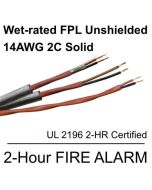 14AWG 2-conductor Solid Wet-rated FPL