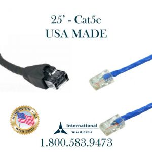 USA MADE – 25FT CAT5e Patch Cord