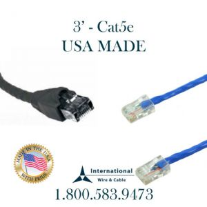 USA MADE – 3FT CAT5e Patch Cord